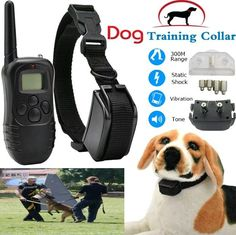 Anti bark dog training E - collar shock remote pet no barking electric LCD new…