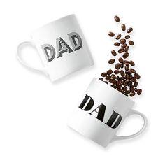 Mark & Graham Dad Mug, White (252.720 IDR) ❤ liked on Polyvore featuring home, kitchen & dining, drinkware, monogrammed mugs, dishwasher safe mugs, white mug, hot coffee mug and hot tea mug