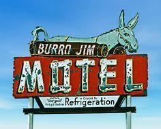 Burro Jim Motel vintage neon roadside
