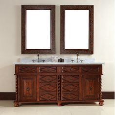 """James Martin Furniture Continental 72"""" Double Vanity Set with Stone Top"""