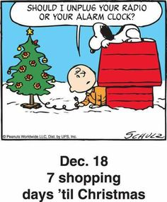 Charlie Brown and Snoopy Classic panel from (December Peanuts Christmas, Christmas Love, Christmas Countdown, Christmas Pictures, Christmas Humor, Xmas, Celebrating Christmas, Christmas Ideas, Snoopy Cartoon