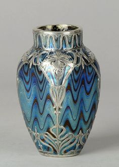 Kralik Art Glass with Silver.