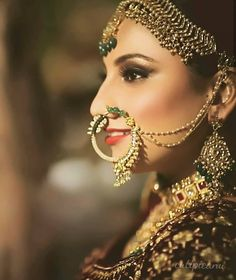 Desi Wedding, Wedding Looks, Formal Wedding, Wedding Styles, Nose Jewels, Bridal Nose Ring, Bridal Poses, Big Fat Indian Wedding, Indian Bridal Fashion