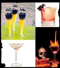 10 Creepy Halloween Cocktails to Spook Your Guests.Some of these cocktails sound delicious.But they all look fantastic! Creepy Food, Creepy Halloween Food, Bloody Halloween, Halloween Cocktails, Halloween Dinner, Halloween Food For Party, Holidays Halloween, Halloween Treats, Halloween Foods