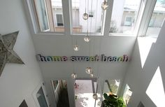 """home sweet beach"" sign, A Modern Beach House in San Diego by hookedonhouses"