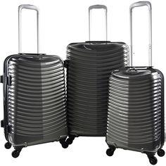 Travelers Club Luggage Orion 3PC Hardside Expandable Spinner Luggage Set Gray - Travelers Club Luggage Luggage Sets   Comprar en iguama.com