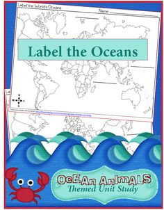 Free Label the Oceans Printables