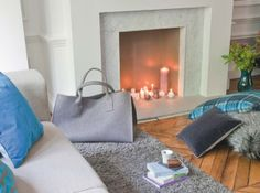 Cheminee Love Decorations, Loft, House Styles, Design, Inspiration, Chic, Fire Places, Living Room, Fire