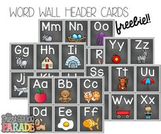49 Best Word Wall Headers Images On Pinterest Classroom Ideas