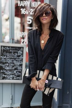 Fashion Trends for Summer 2019 Parisian Style - Click the pic for more inspo from ParisParisian Style - Click the pic for more inspo from Paris Mode Outfits, Fall Outfits, Fashion Outfits, Womens Fashion, Fashion Hair, Ladies Fashion, Stylish Outfits, Fashion Ideas, Fashion Tips
