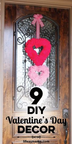 A house is never a home without a little holiday decor. Through my searches I have found some really adorable pieces of decor that are easy to make and will make your home look so fun and festive. Here are 9 of the best Valentine's Day DIY decor that I've found.