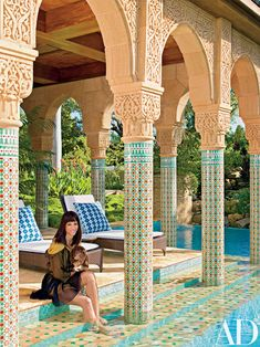 This Key West Home Embodies the Lavish Elements of a Moroccan Pavilion | Architectural Digest Morrocan Architecture, Islamic Architecture, Futuristic Architecture, Contemporary Architecture, Pavilion Architecture, Sustainable Architecture, Residential Architecture, Landscape Architecture, Modern Moroccan