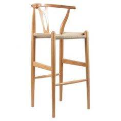 Wishbone Barstool in Natural