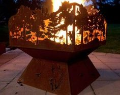 custom steel fire pit - Google Search                                                                                                                                                                                 More