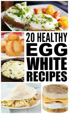 Egg whites are high in protein and low in cholesterol, which make them the perfect healthy breakfast choice.