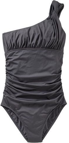 Women's Ruched One-Shoulder Swimsuits