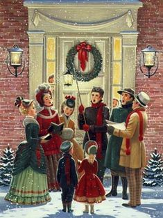 Old Fashioned Christmas carol singers Old Time Christmas, Christmas Tree Tops, Christmas Scenes, Christmas Past, Victorian Christmas, Christmas Carol, Winter Christmas, Christmas Mantles, Christmas Villages