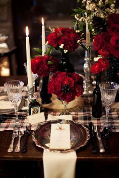 white and red christmas tablescape images - Google Search