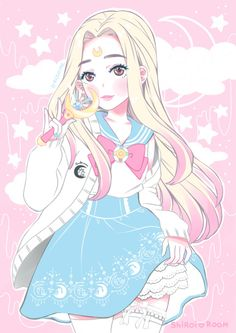 shiroiroom:  amaitohiko:  Another drawing of me in my Sailor Moon outfit from…