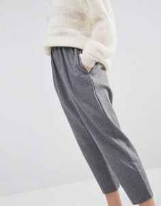 Paisie Cropped Trousers With Wool Mix: http://asos.do/X9sTXa