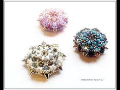 * Tutorial come fare un ciondolo Calipso con perline  cristalli swarovski e spikes