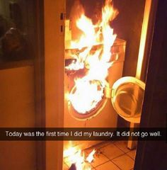When laundry goes wrong.
