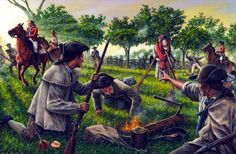 Loyalist and Whig militia encounter each other during the American Revolutionary War