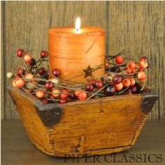 Piper Classics is your one stop shop for country, primitive and farmhouse style home decor. Primitive Fall, Primitive Crafts, Country Primitive, Primitive Candles, Primitive Christmas, Prim Decor, Country Decor, Rustic Decor, Dulces Halloween