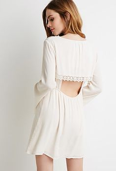 Crochet-Trimmed Babydoll Dress | Forever 21 - 2000053284