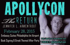 Deity Island (A Jennifer L. Armentrout Fansite): Booked Your Ticket for #ApollyCon yet?