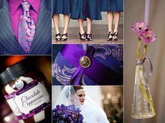 purple and blue wedding :)