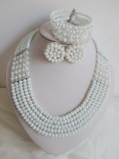 Find More Bridal Jewelry Sets Information about Amazing nigerian wedding african beads jewelry set crystal White Clear AB necklaces button stud earrings NC2109,High Quality earring distributors,China earrings hair Suppliers, Cheap earring set jewelry sets from Alisa's Jewelry DIY Store on Aliexpress.com