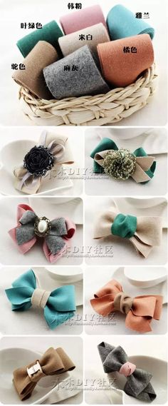 New baby diy accessories how to make ideas Ribbon Art, Diy Ribbon, Ribbon Crafts, Ribbon Bows, Baby Hair Accessories, Diy Accessories, Fabric Bows, Fabric Flowers, Bow Hair Clips