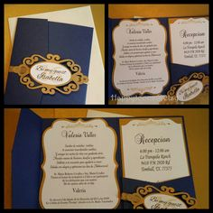 Items similar to Elegant Quinceañera, Sweet sixteen, Wedding invitations. on Etsy Wedding Invitation Cards, Party Invitations, Sweet Fifteen, Dream Wedding, Lily Wedding, Sweet Sixteen Invitations, Quinceanera, Beauty And The Beast, Mughal Paintings