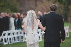 The Ranch at Bandy Canyon wedding: lace wedding dress and veil www.joyfulweddingsandevents.com