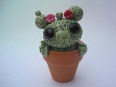 Cute Cactus Sculpture Creature Cacti Green Desert Plant by PlayfulPixieCreation on Etsy