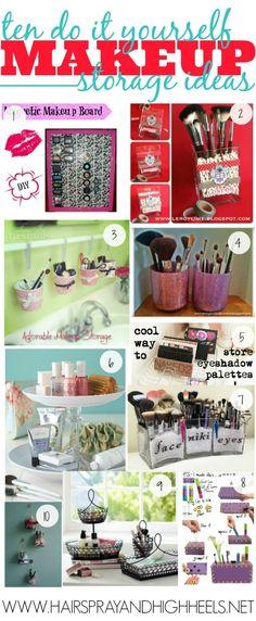 10 DIY Makeup Storage Ideas