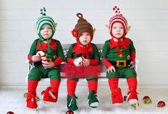 Twin Christmas Hats Baby Elf Hat Twins Elf by TheOwlTreeKnittingCo Baby Christmas Hat, Newborn Christmas Photos, Christmas Photo Props, Christmas Tree Farm, All Things Christmas, Christmas Holidays, Christmas Sweaters, Christmas Cards, Crochet Christmas
