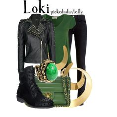 """Awesome jacket! """"Loki"""" I think I could have a board just for all the Loki inspired outfits! I am a sucker for green and boots!"""