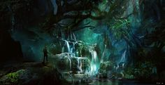 fairy tales for forest spirits by KalaNemi on DeviantArt Fantasy Forest, High Fantasy, Fantasy Art, My Fantasy World, Fantasy Places, Occult Art, Forest Creatures, Wow Art, Environment Concept Art