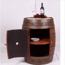 I love that this wine barrel can be used as a cute end table or as a bar but still maintains its original shape