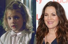 Awesome then and now photos from movies: from E.T.: Gertie/Drew Barrymore
