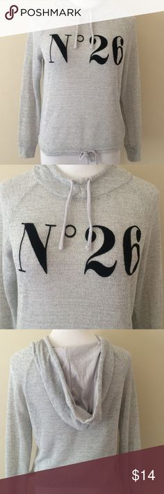 H&M Divided top Drawstring around the bottom and neck. Hooded. Excellent condition. Open to offers. Semi sheer material. H&M Tops Tees - Long Sleeve
