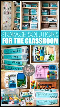 Affordable and efficient storage solutions for the classroom. Great for math manipulatives, games, activities, and center management! First Grade Classroom, New Classroom, Special Education Classroom, Primary Classroom, Preschool Classroom, Classroom Setup, Classroom Design, Classroom Hacks, Classroom Organisation