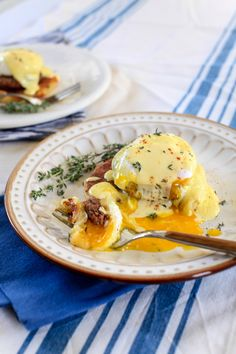 Potato Cake Benedict. Just like Eggs Benedict, but sub a potato cake for the English muffin. I pretty much have to have this right now. (By @thenoshery)
