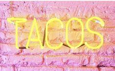 Fluorescent Colors, Taco Tuesday, Pink Yellow, Neon Signs, Outdoor Decor, Handmade, Instagram, Hand Made, Handarbeit