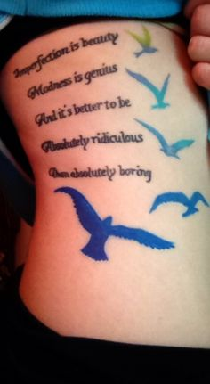 Marilyn quote and birds tattoo | tattoo's | Pinterest