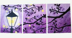 Enchanted Evening Original Painted Silhouettes by CustomColorArt