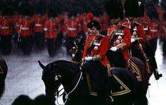 queen at trooping the colour by David Levenson