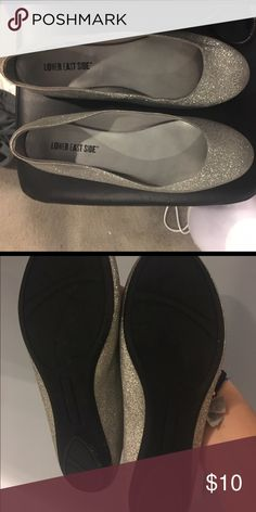 Silver sparkly flats Sparkly flats, perfect for homecoming or prom, only worn once, good condition Shoes Flats & Loafers